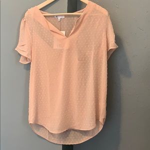 Chiffon baby pink top